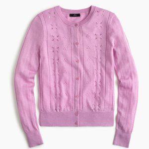 NEW J Crew Jackie Pink cardigan sweater
